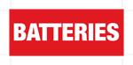Luminous Batteries Label 137mm x 56mm