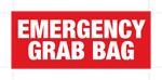 Luminous Emergency Grab Bag Label 148mm x 63mm
